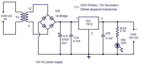Power Supply Circuit Diagram Electrical