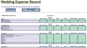 Expense Record Template by Wedding Expenses Record Template Microsoft Excel Templates