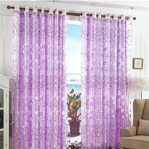 floral window curtains floral flower tulle voile door window curtain drape panel