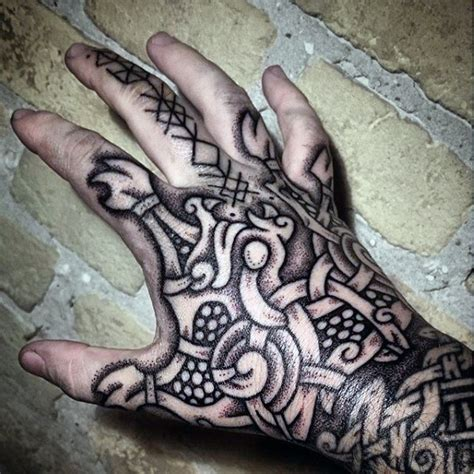 Norse Tattoo Designs 80 Rune Tattoos For Men Germanic Lettering Design Ideas