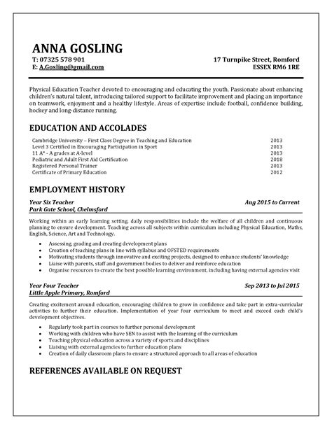 How To Right A Resume by Word Descargar Exles Of Primary Resumes