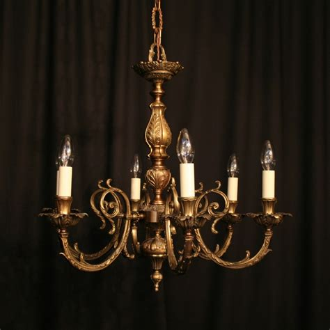 an italian cast brass 6 light antique chandelier 267924