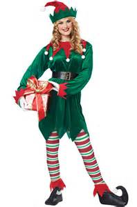 christmas elf adult costume purecostumes com