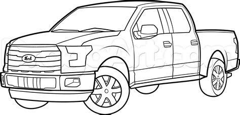 How To Draw An F-150 Ford Pickup Truck, Step By Step