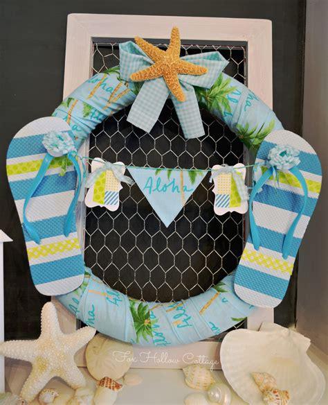 aloha summer wreath fun   sun fox hollow cottage
