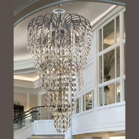 lustres cuisine très grand lustre contemporain métal et verre dubai