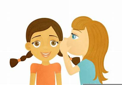 Whisper Clipart Child Clip Voice Cliparts Whispering