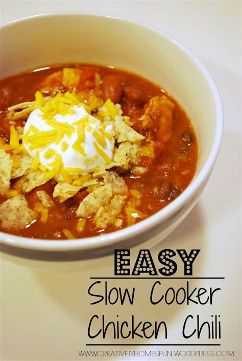 cooker chicken chili easy slow cooker chicken chili