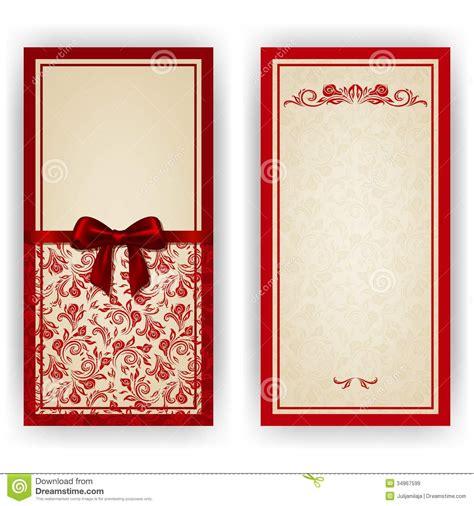 Elegant Vector Template For Luxury Invitation, Stock Image