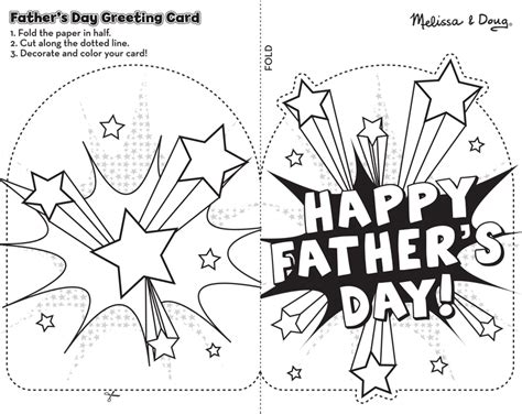 Free Printable Father's Day Card Craft For Kids