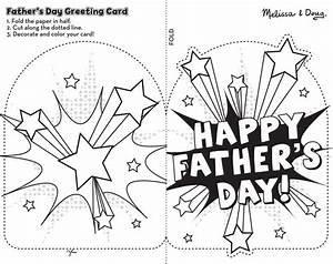 Free Printable Father's Day Card Craft for Kids | Melissa ...