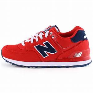 New Balance 574 Pique Polo Pack Womens Trainers in Red Navy