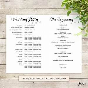 byron printable wedding order of service template With wedding ceremony order of service