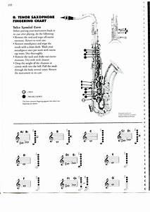 Tenor Saxophone Chart Bb Tenor Saxophone Chart Printable Pdf Download