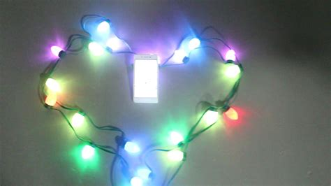 addressable color changing c9 rgb led string ws2811