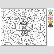Funny Dog Color By Number  Free Printable Coloring Pages