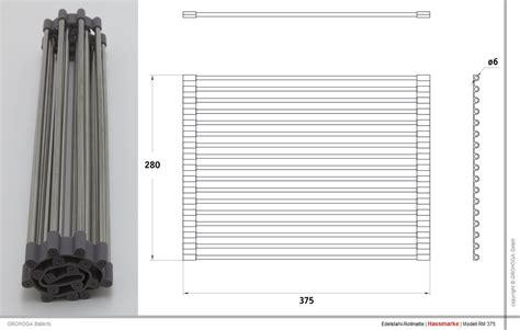 Geschirrablage Für Spüle by Rm 375 X 280 Edelstahl Rollmatte Geschirrablage