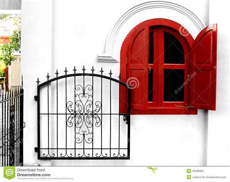 wrought iron garden gate stock photo image 49489955