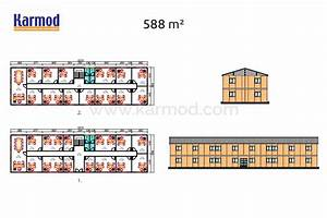 Plan De Construction : plan bureau modulaire plan de construction de bureaux ~ Melissatoandfro.com Idées de Décoration