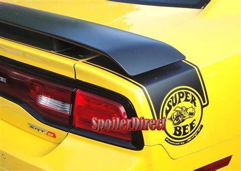 matte black painted dodge charger srt srt rear spoiler factory super bee style ebay