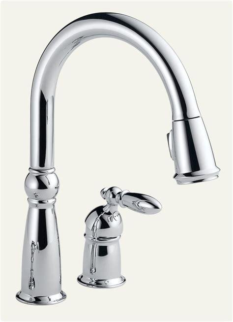 amazon delta kitchen faucets delta 955 dst single handle pull kitchen