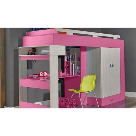 lit mezzanine avec bureau pour ado lit sureleve avec bureau et armoire vera achat vente