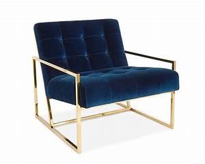 Fauteuil Velours Bleu : fauteuil goldfinger ~ Teatrodelosmanantiales.com Idées de Décoration