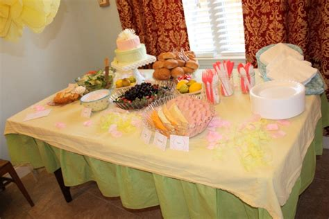 Pink Green Yellow Baby Shower by Banana S Bread Yellow Pink And Green Baby Shower