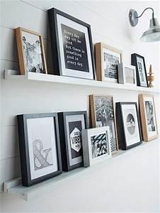 Etagere Pour Cadre Photo : les 25 meilleures id es concernant murs de cadre sur ~ Premium-room.com Idées de Décoration