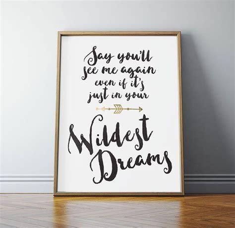 Banks Bedroom Wall Lyrics Meaning by Quote Wildest Dreams