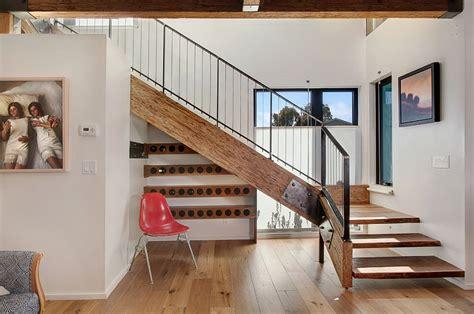 eye catching  stairs wine storage ideas