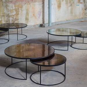 round nesting coffee table set notre monde ahalife With round stacking coffee table