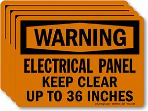 electrical panel keep clear up to 36 inches warning label With electrical panel warning labels