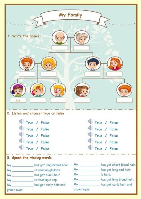 family  family worksheet
