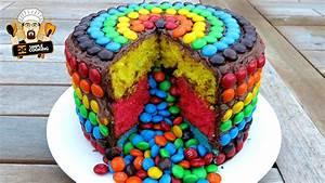 M&M RAINBOW PIÑATA CAKE - DIY EASY RECIPE - YouTube