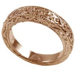antique gold wedding rings 14k gold antique wedding band ring cubic zirconia jewelry cz rings in 14k gold
