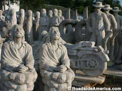 hillside  concrete statues slate mountain north carolina