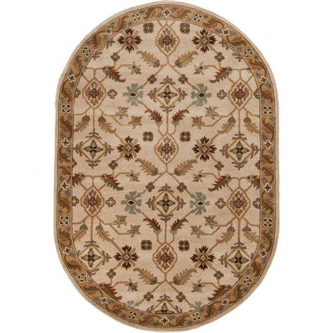oval area rugs artistic weavers epictus beige 6 ft x 9 ft oval indoor