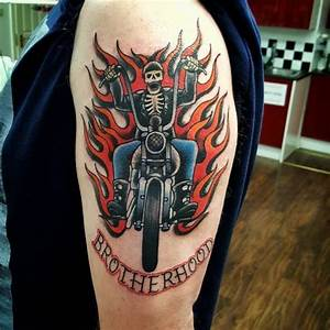 Biker Tattoos | Tattoo | Pinterest | Biker tattoos, Bikers ...