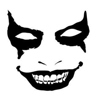 evil face  decal sticker