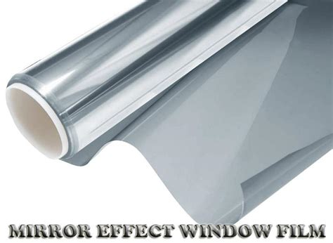 vitre teinte effet miroir 3m 50cm neuf argent miroir auto solaire teinte pellicule vitres voiture ebay