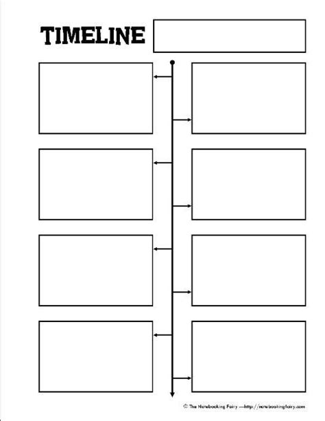 printable timeline notebooking page