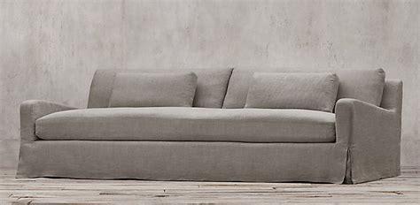belgian slope arm sofa long skirt or snug fit slipcovers