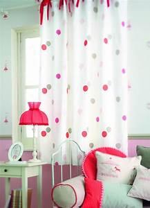 rideaux a nouettes rouges chambre de petite fille jules With rideaux de chambre de fille