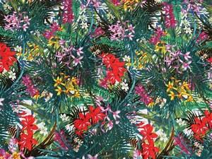 Tissu Imprimé Tropical : tissu crepe viscose imprim tropical the sweet mercerie ~ Teatrodelosmanantiales.com Idées de Décoration