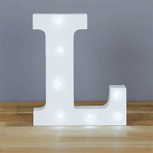 light up letter l home decor barbours With lighted letter l