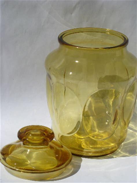 vintage amber gold glass canister jars kitchen