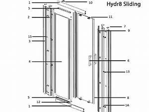 Twyford Hydr8 Sliding Door Spares Shower Spares And Parts