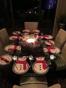 Snowman, Table, Setting, 2017