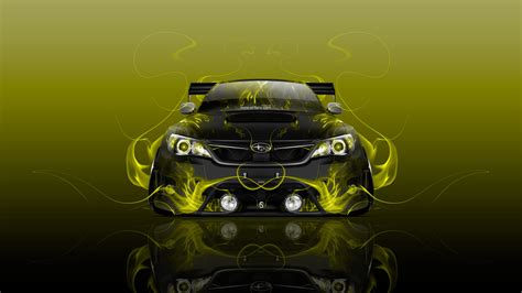 subaru impreza wrx sti jdm front fire car  wallpapers